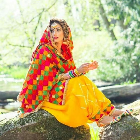 phulkari suit design