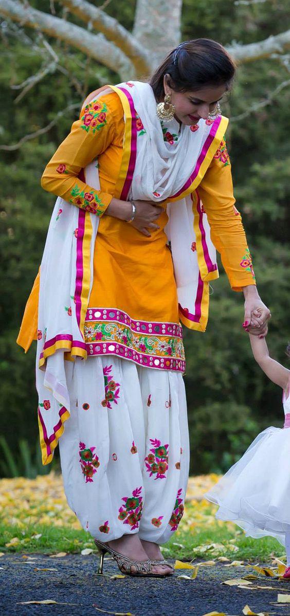 tradition punjabi suit design