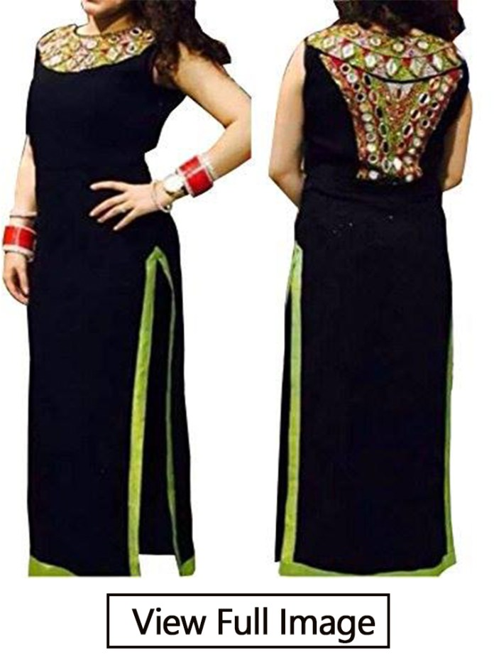 designer back neck kurti design