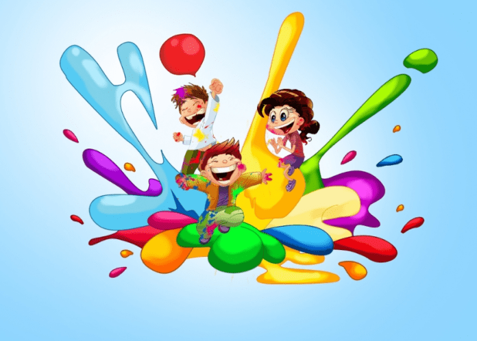 happy holi animated wallpapers