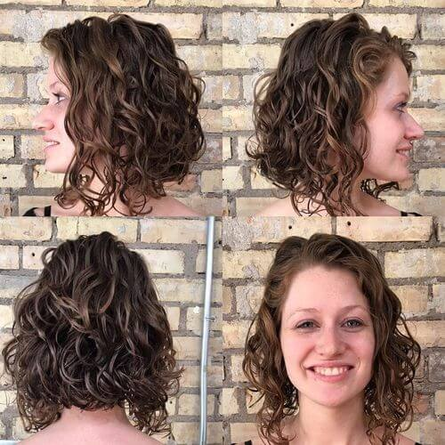 best haircut idea for short wavy hair