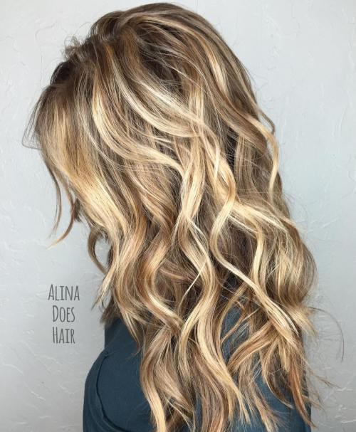 Long waves hairstyle ideas