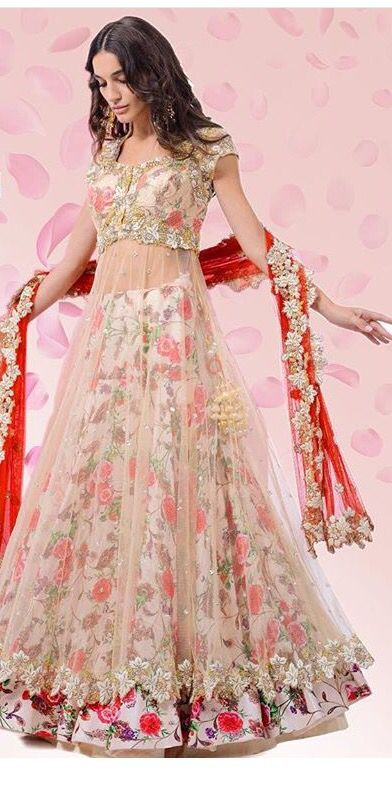 Beautiful Net Lehenga for Engagement