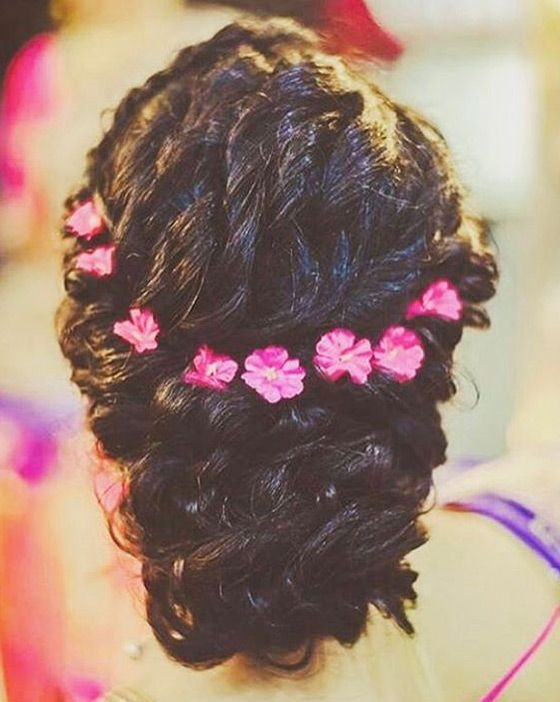 bun hairstyles for lehenga