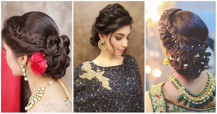 Indian Bridal Hairstyle For Round Face Girls
