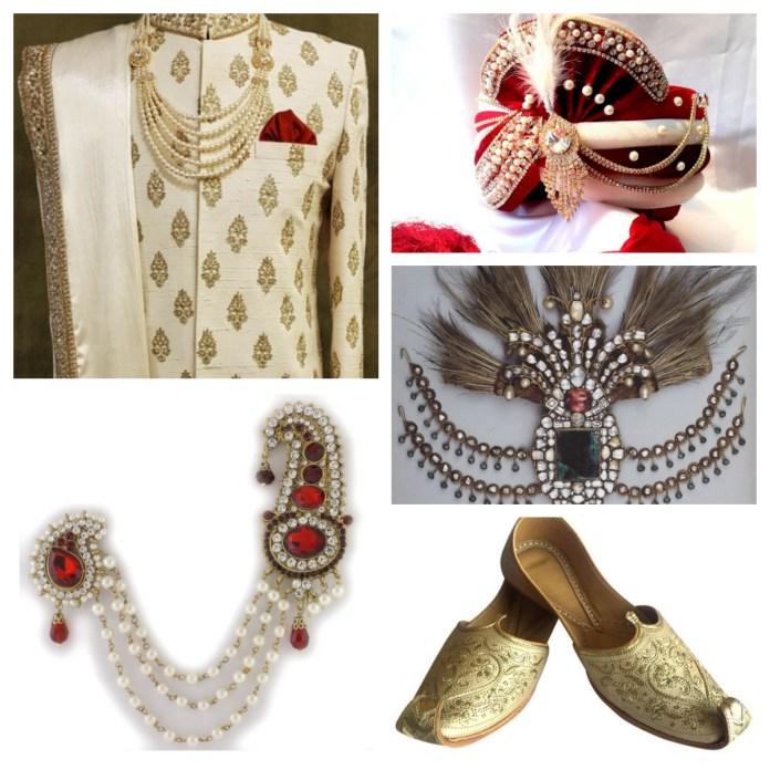 Accessories with sherwani
