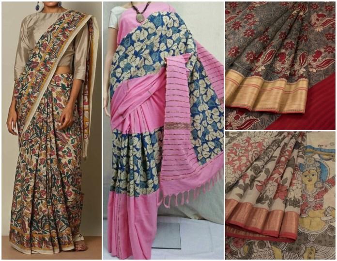 Cotton Kalamkari Sraees