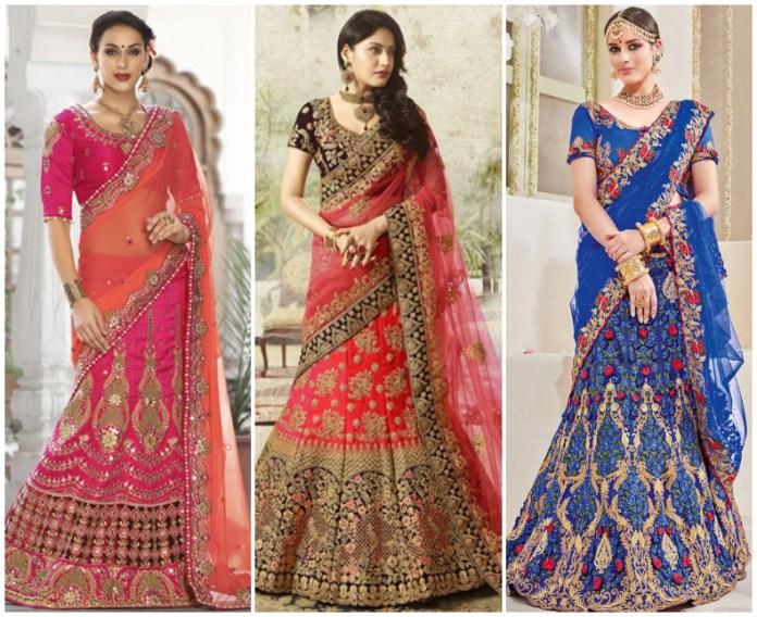 Wedding Lehenga Saree Online