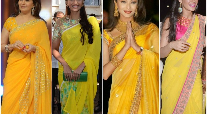 Yellow Sarees For Wedding