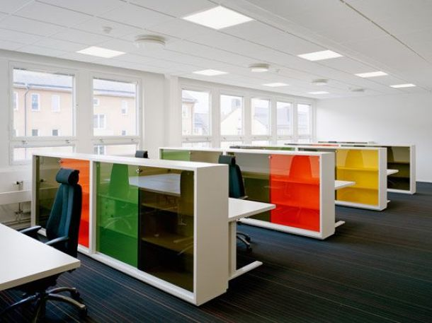 Glass Walls Office Interior Design