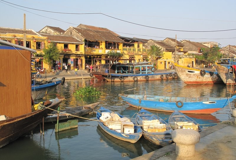 Fishing boats at Hoi An