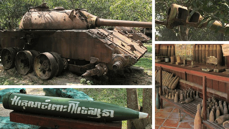 Exhibits at the Siem Reap War Museum