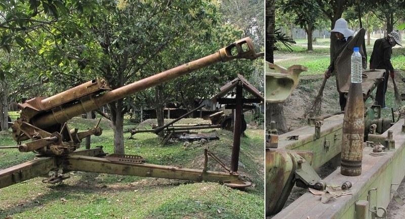 Artillery at Siem Reap War Museum