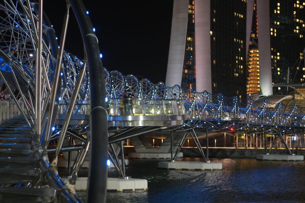 Helix Bridge at night