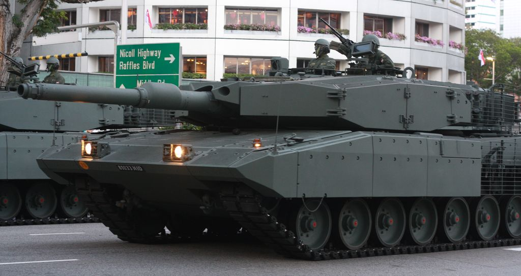 M1 Abrams in downtown Singapore