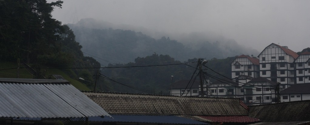 View of hillside in Tanah Rata
