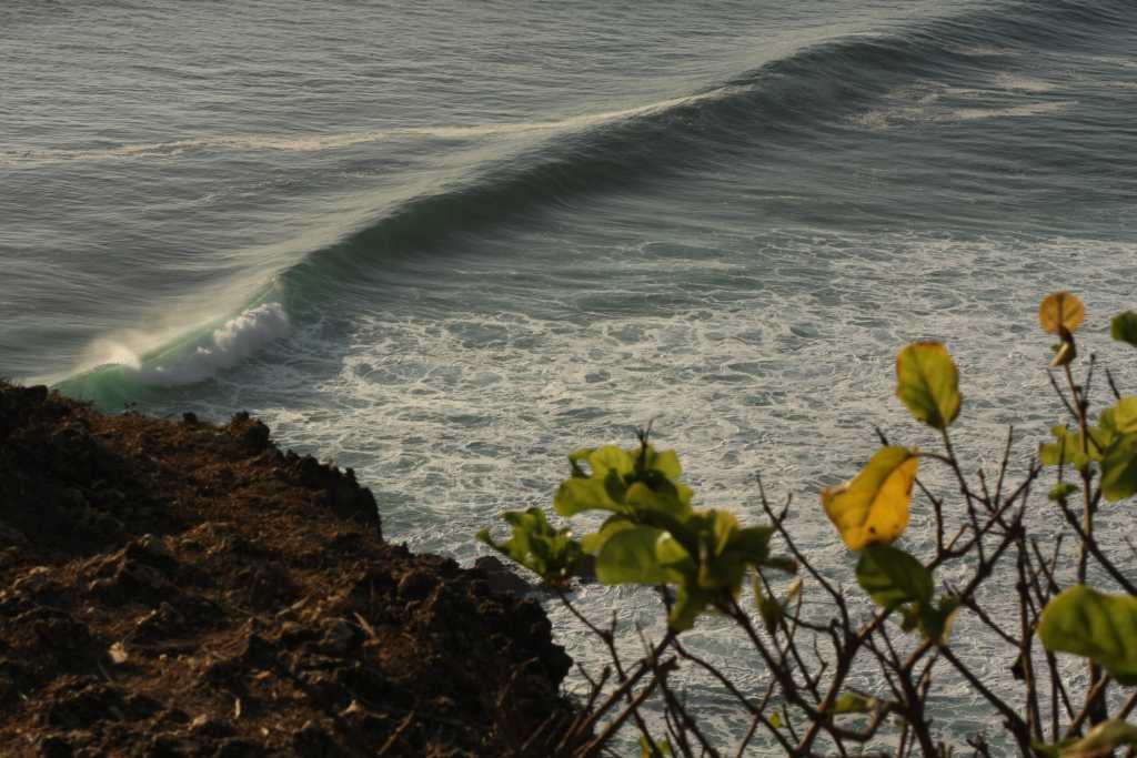 Uluwatu beach from the cliff