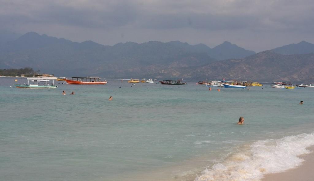 View of Lombok from Gili Trawangan