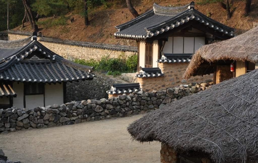 Korean folk village at Andong Folk Museum