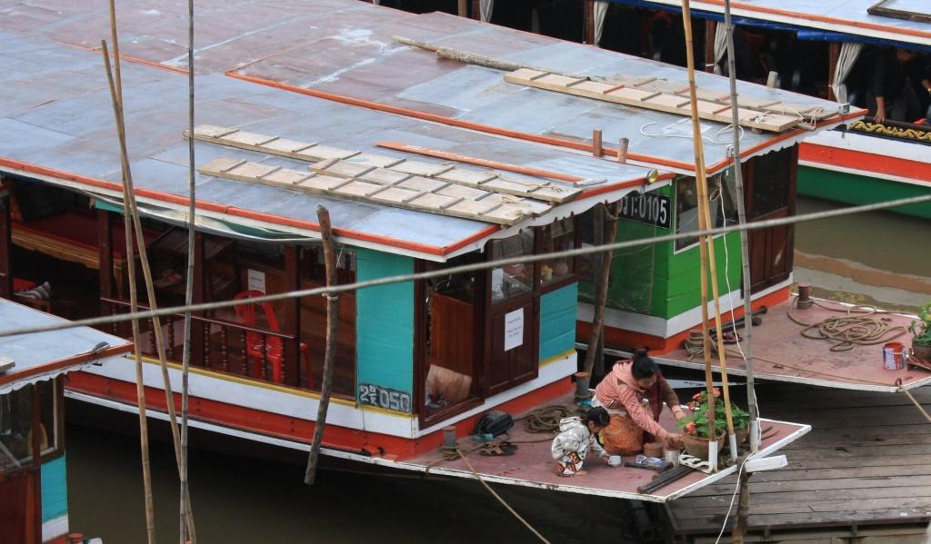 A Mekong slow boat