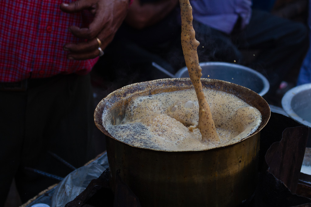 Brewing chai
