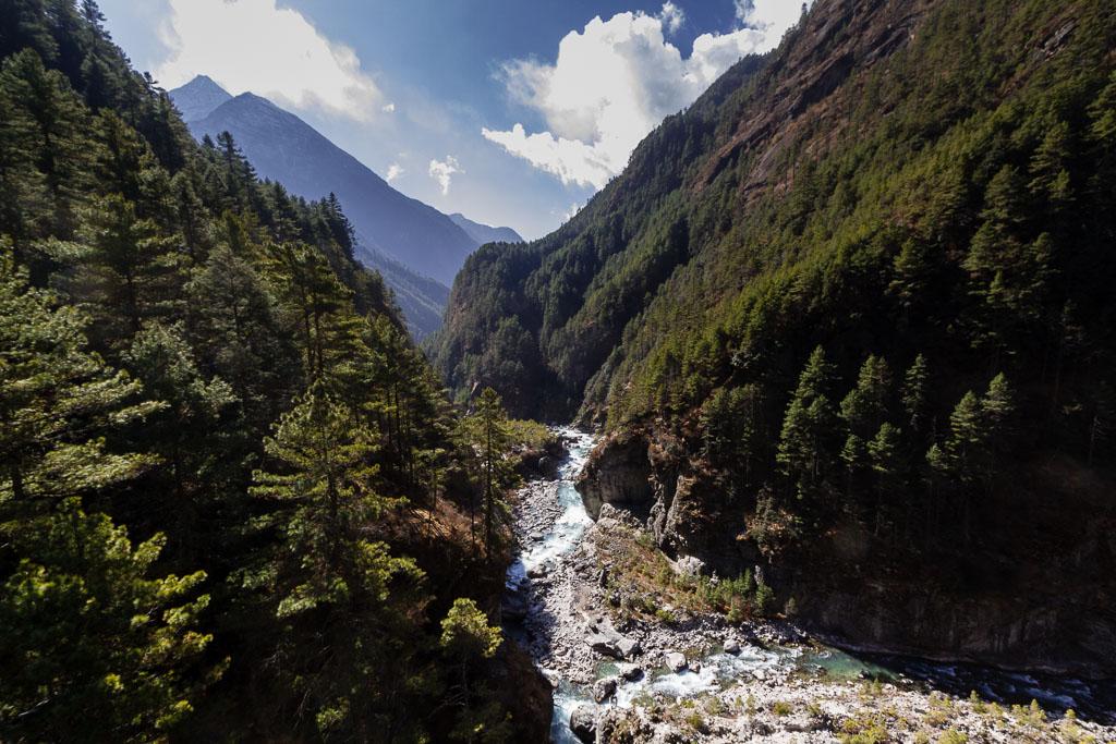 The Dudh Kosi river