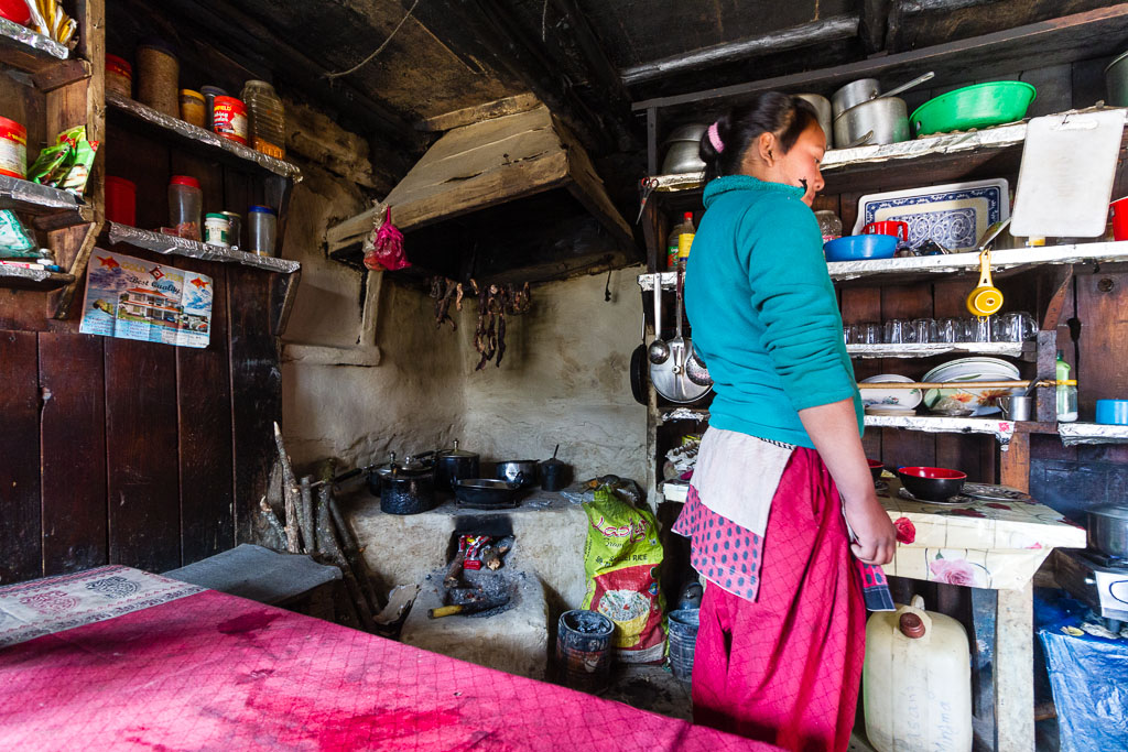 A typical Nepali kitchen in the Khumbu Valley