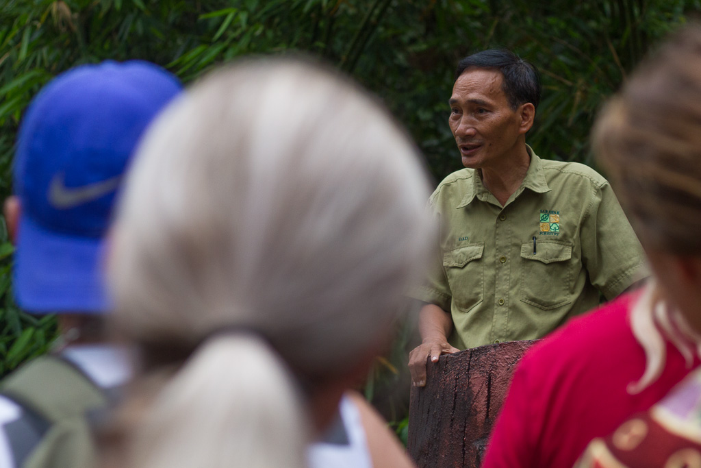 Park ranger at Semenggoh Nature Reserve