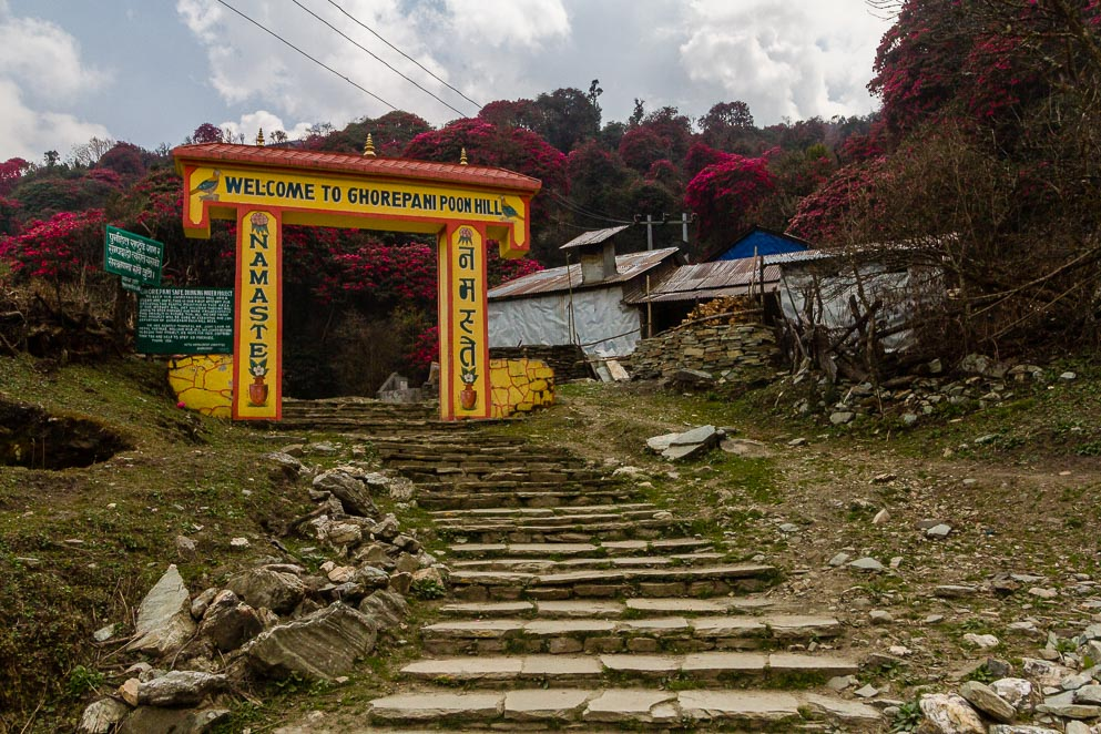 The entrace to Ghorepani