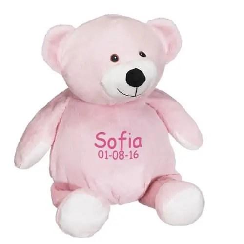 Personalized Stuffed Animal - Pink Bear