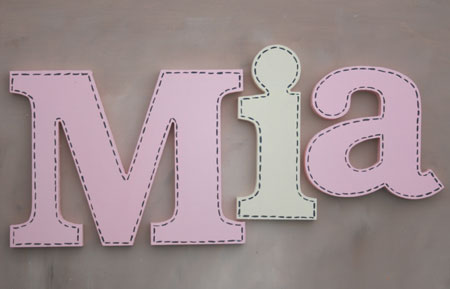 Soft Stitch Girl Letters