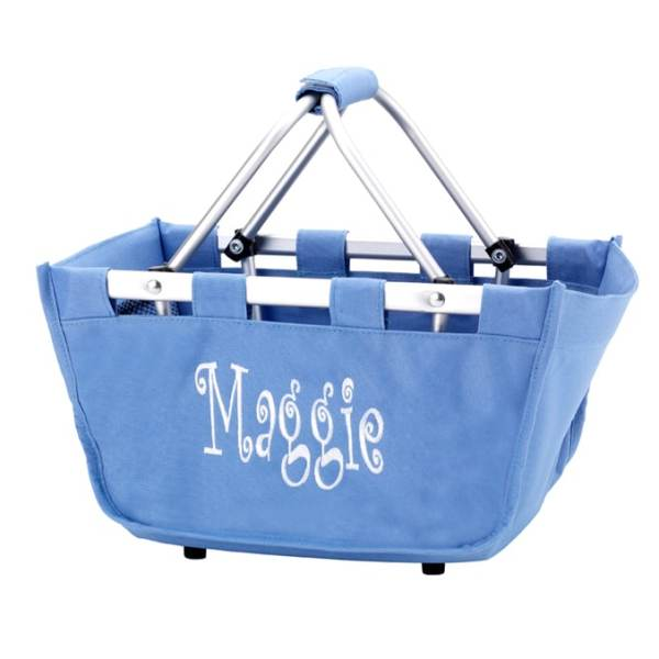 Personalized Tote Basket - Denim