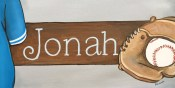 Baseball Door Plaque