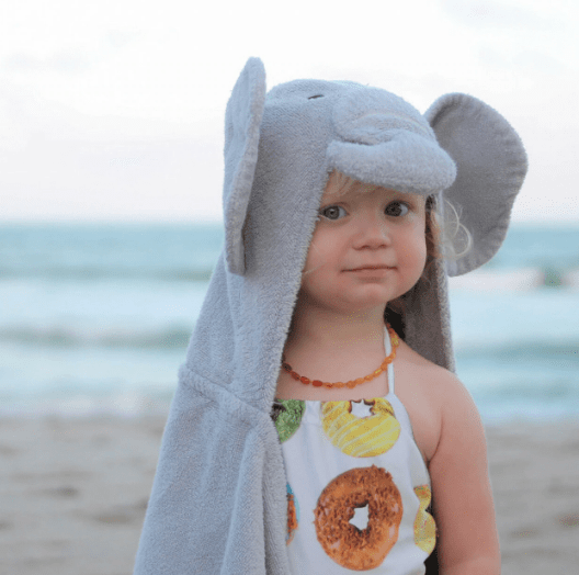 Personalized Hooded Towel for Kids - Elephant