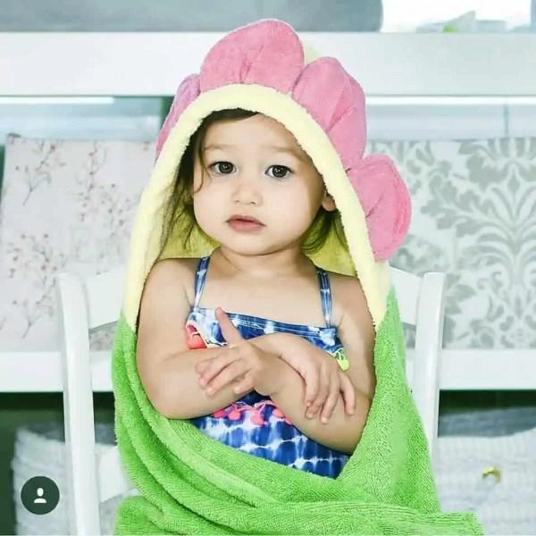Personalized Kids Towel - Flower