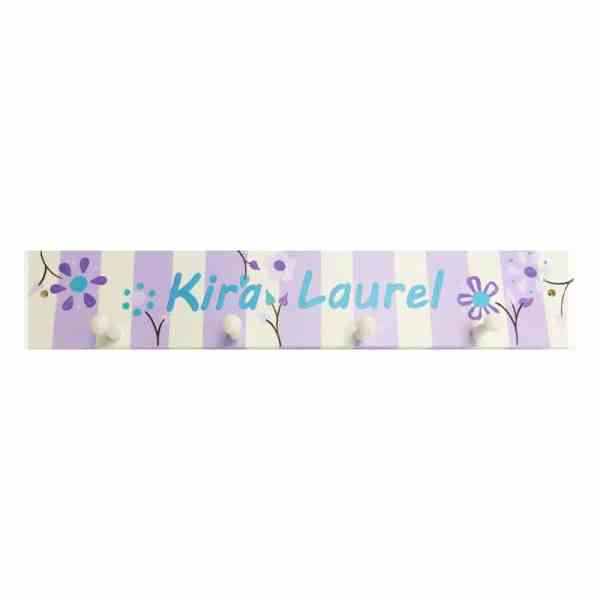 Personalized Pegboard - Floral Stripes