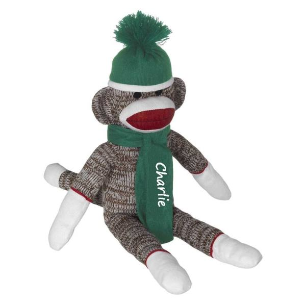Personalized Sock Monkey - Green
