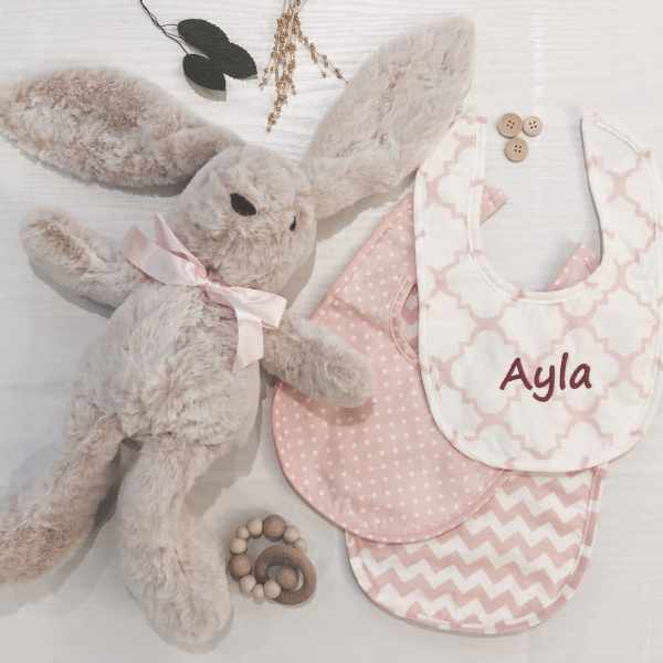 Personalized Baby Bibs - Pink