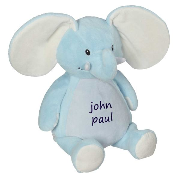 Personalized Stuffed Animal - Blue Elephant