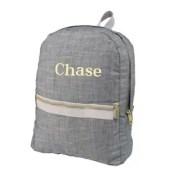 Grey Chambray Medium Backpack