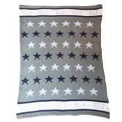 Hand Knit Personalized Blanket - Star