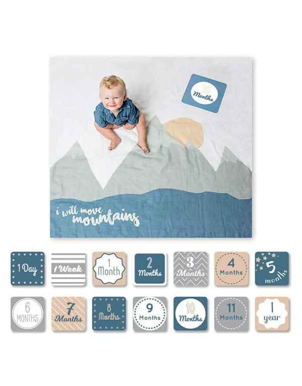 Baby Milestone Blanket - I Will Move Mountains