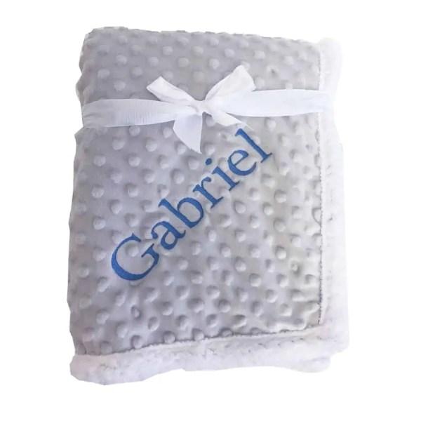 Popcorn Grey Sherpa Blanket