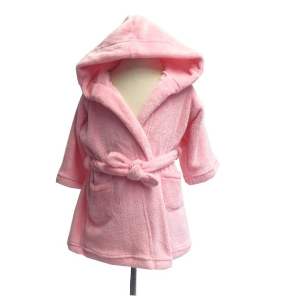 personalized kids robe - pink