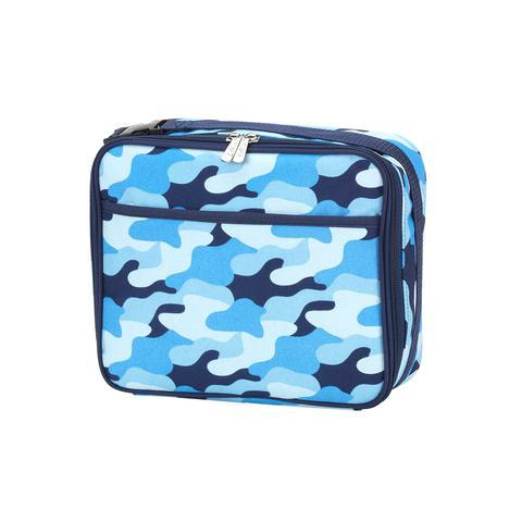 Personalized Kids Lunch Bag - Cool Blue Camo