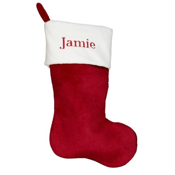 Personalized Christmas Stocking - Classic Red