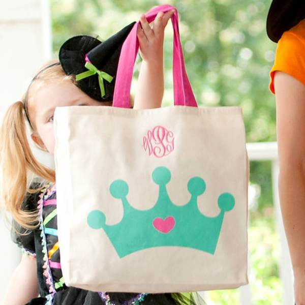 Personalized Canvas Tote - Crown