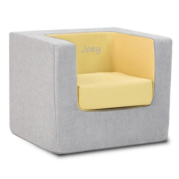Personalized Cubino Chair - Ash Yellow Monte