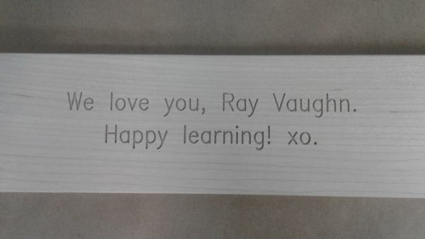 personalized wooden puzzle - engraving on back