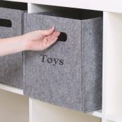 Personalized Felt Storage Cube